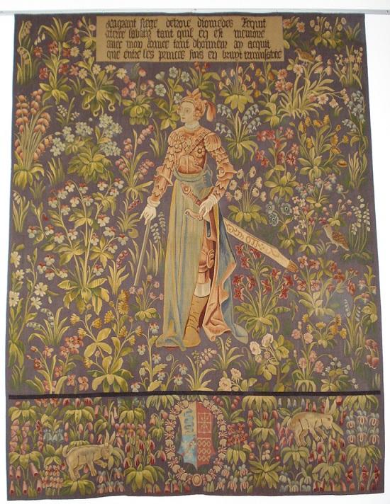Penthésilée  la Reine des Amazones tissée au XIXème siècle