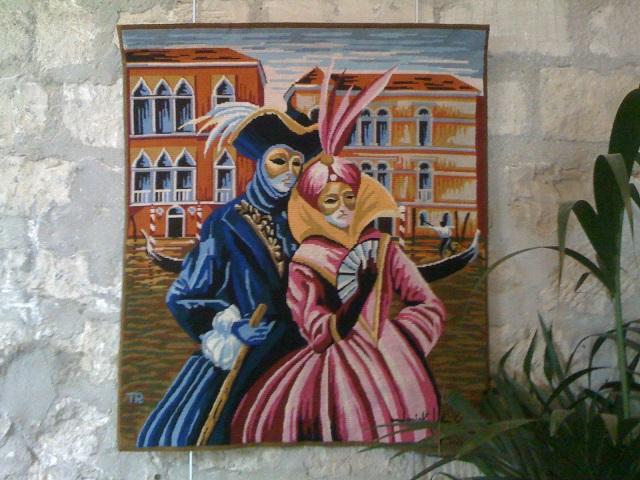 Les Amants de Venise tissée sur trame Pénélope