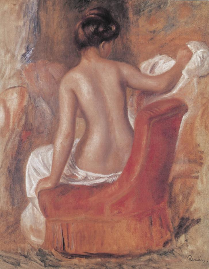 Nu sur un fauteuil rouge Renoir