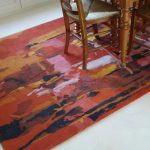 "Tapis tufté ""Abstraction Lyrique"""